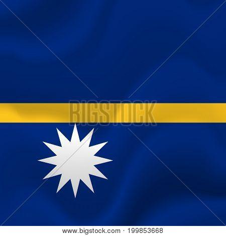 Nauru waving flag. Waving flag. Vector illustration.
