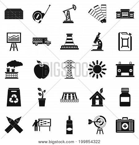 Charge icons set. Simple set of 25 charge vector icons for web isolated on white background