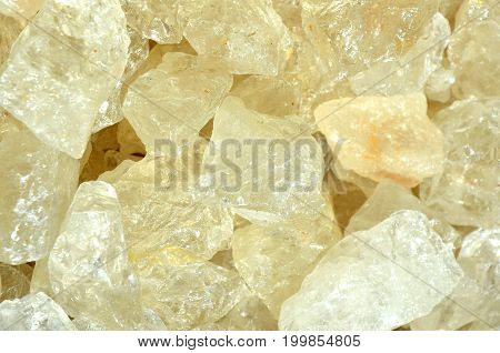 many Salt stones in a close up photo