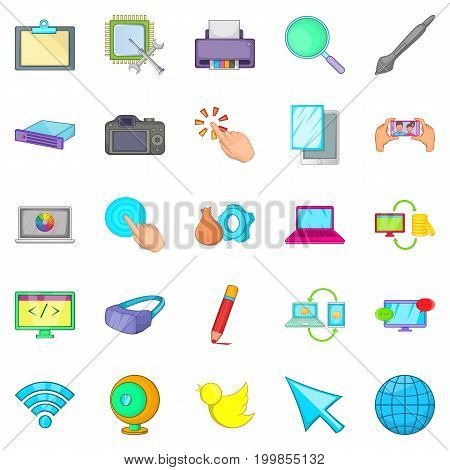 Repair hardware icons set. Cartoon set of 25 repair hardware vector icons for web isolated on white background
