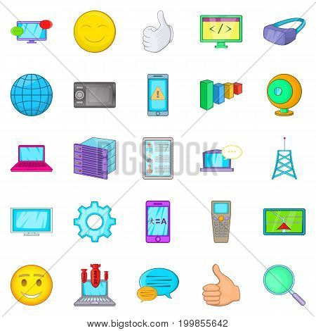 Secret information icons set. Cartoon set of 25 secret information vector icons for web isolated on white background