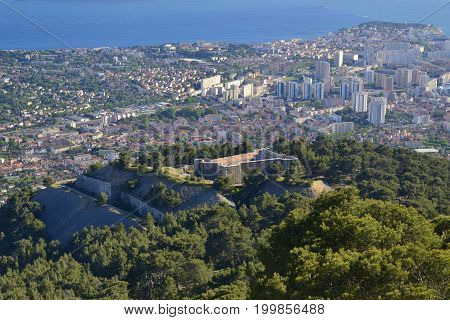 View on Fort Faron in Toulon, France