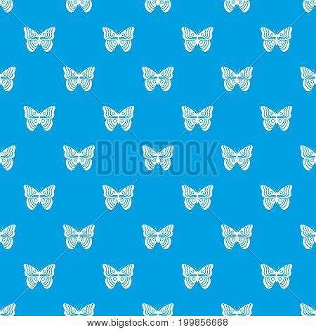 Stripped butterfly pattern repeat seamless in blue color for any design. Vector geometric illustration