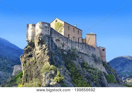 Point Belvedere Citadel Corte in Corsica, France