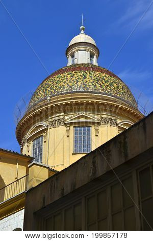 Dome of Nice Cathedral (Basilique-Cathedrale Sainte-Marie et Sainte-Reparate de Nice)