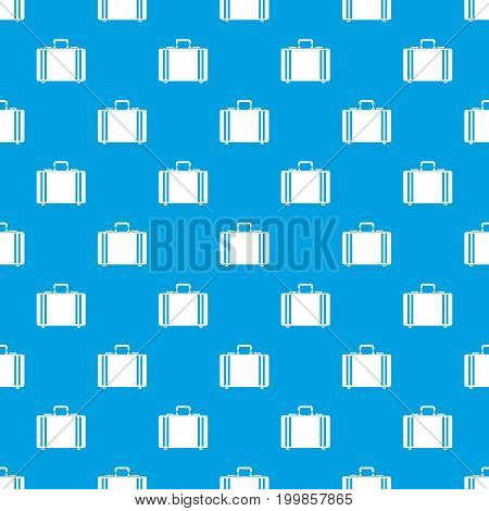 Diplomat pattern repeat seamless in blue color for any design. Vector geometric illustration