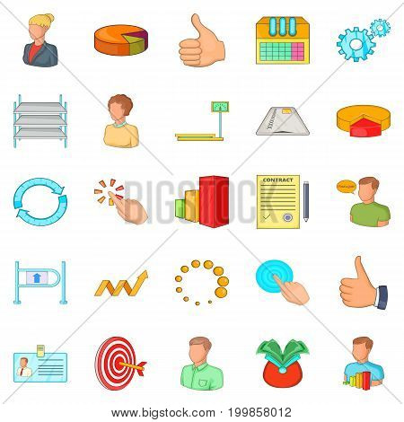 Joint-stock company icons set. Cartoon set of 25 joint-stock company vector icons for web isolated on white background