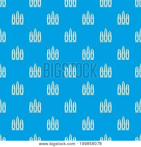 Cartridges pattern repeat seamless in blue color for any design. Vector geometric illustration