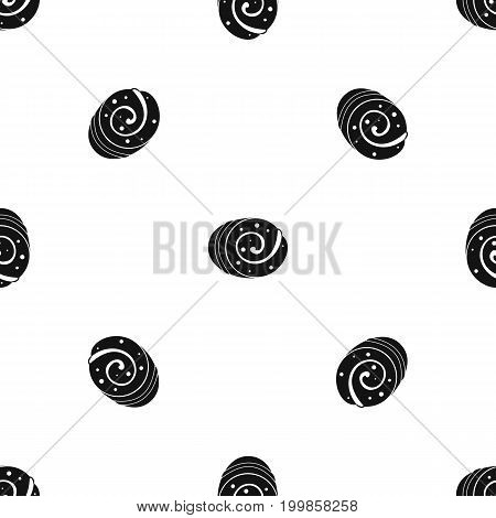 Fruit loaf pattern repeat seamless in black color for any design. Vector geometric illustration