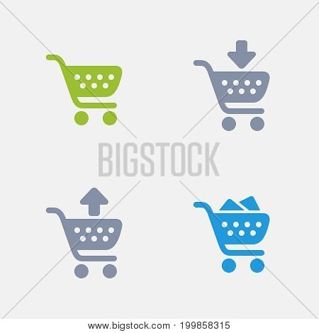 Shopping Carts - Granite Icons. A set of 4 professional, pixel-perfect icons designed on a 32x32 pixel grid.