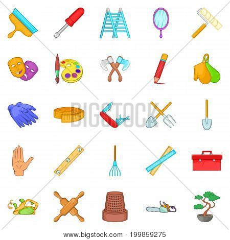 Craftsman icons set. Cartoon set of 25 craftsman vector icons for web isolated on white background