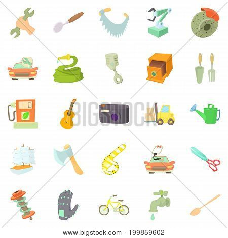 Weaver icons set. Cartoon set of 25 weaver vector icons for web isolated on white background