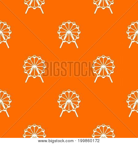 Singapore Flyer, tallest wheel in the world pattern repeat seamless in orange color for any design. Vector geometric illustration