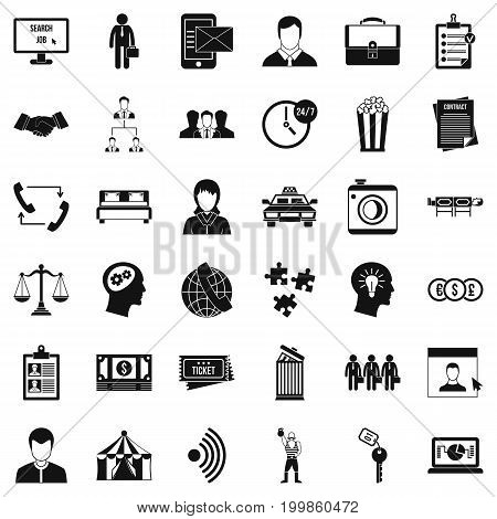 Coherence icons set. Simple style of 36 coherence vector icons for web isolated on white background