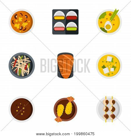 parts icons set. Flat set of 9 parts vector icons for web isolated on white background