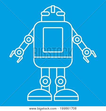 Artificial intelligence concept icon blue outline style isolated vector illustration. Thin line sign