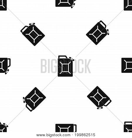 Fuel jerrycan pattern repeat seamless in black color for any design. Vector geometric illustration