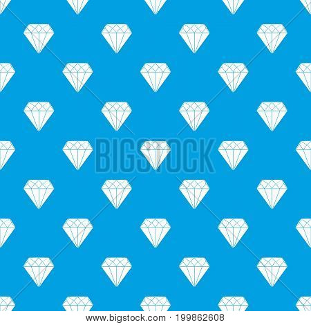 Diamond pattern repeat seamless in blue color for any design. Vector geometric illustration