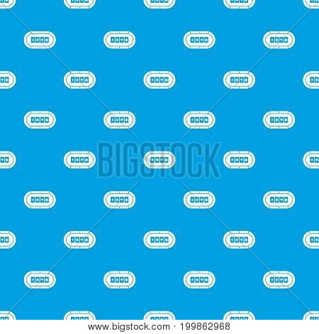 Poker table pattern repeat seamless in blue color for any design. Vector geometric illustration