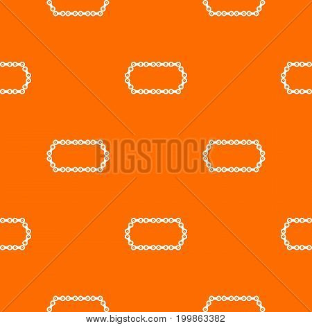 Bicycle chain pattern repeat seamless in orange color for any design. Vector geometric illustration