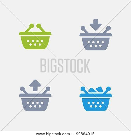 Shopping Baskets - Granite Icons. A set of 4 professional, pixel-perfect icons designed on a 32x32 pixel grid.