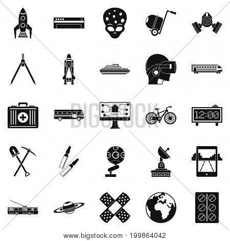 Smart technology icons set. Simple set of 25 smart technology vector icons for web isolated on white background