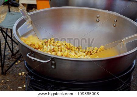 Making Popcorn In The Fun Park