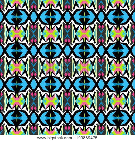 Colored abstract seamless pattern vector illustration abstract high quality
