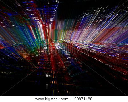 Abstract background element. Fractal graphics series. Perspective composition digital effect. Information technology and electronics concept.