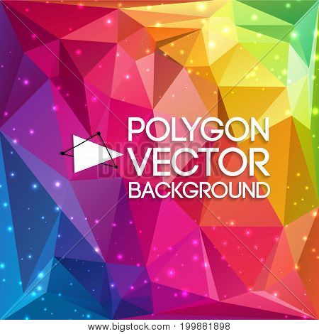 Abstract background consisting of elementary geometric figures in different shapes and colors vector illustration