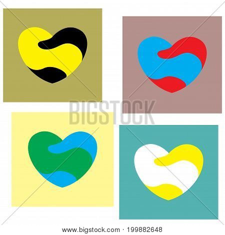 Heart Icon,vector Illustration