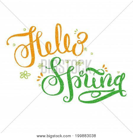 Hello Spring - Hand Drawn Lettering