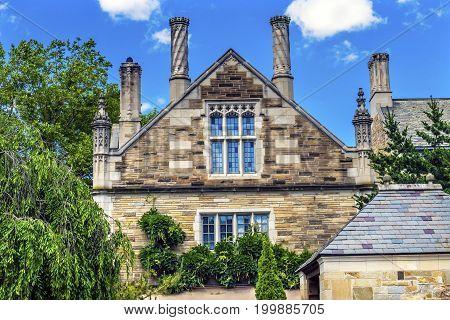 NEW HAVEN, CONNECTICUT-JUNE 24, 2017 Berkeley College Yale University New Haven Connecticut. Built between 1890 t0 1920