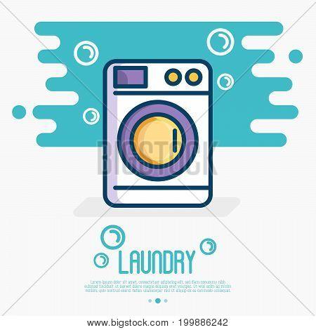 Washing machine thin line icon. Vector illustration for laundry or plumbing logo.