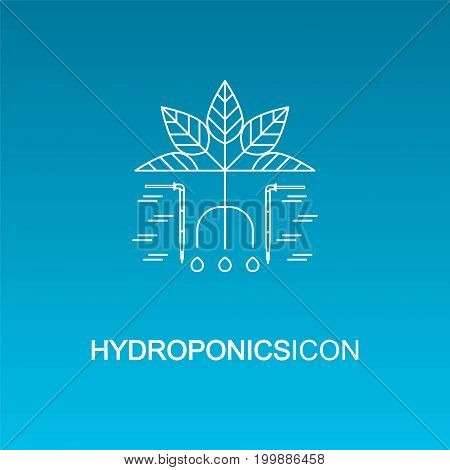 Line icon hydroponics. Can be used for drip irrigation.