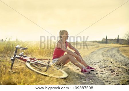 Chilling in the countryside after a bike ride