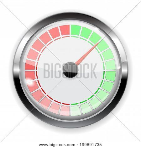 Gauge. Vector illustration isolated on white background