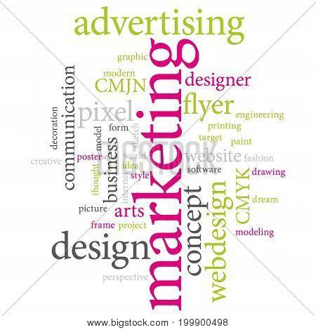 Graphic designer or marketing agency word cloud II.