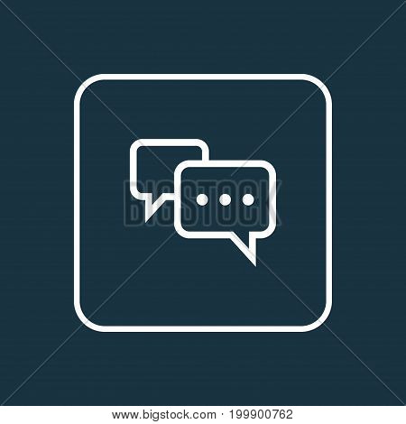 Premium Quality Isolated Conversation Element In Trendy Style.  Chatting Outline Symbol.