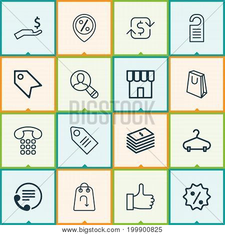 E-Commerce Icons Set. Collection Of Spectator, Price Stamp, Recommended And Other Elements