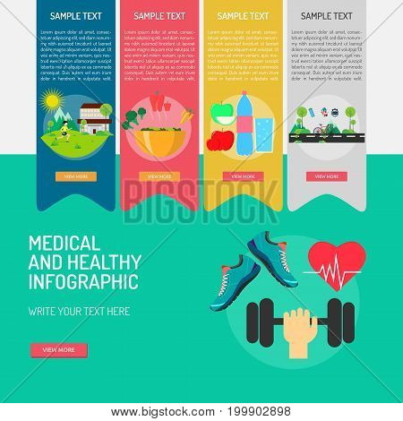 Medical and Healthy Infographic | Use for medical, science, healthy, diagnostic and much more. The set can be used for several purposes like: websites, print templates, presentation templates, promotional materials, info