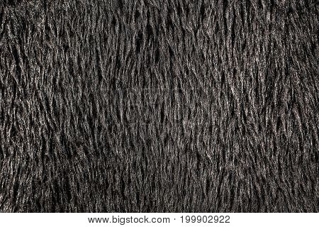 black Artificial fur texture for the background