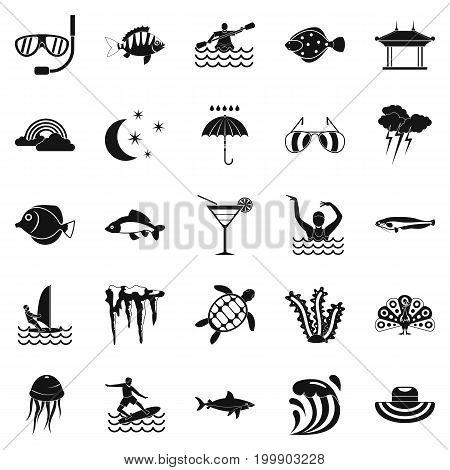 Dip icons set. Simple set of 25 dip vector icons for web isolated on white background
