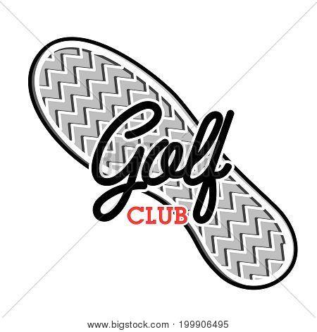 Color vintage golf club emblem. Golf championship, golf gear and equipment badge logo. Vector illustration, EPS 10