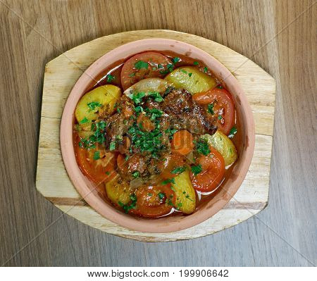 Chanakhi Traditional Georgian Dish