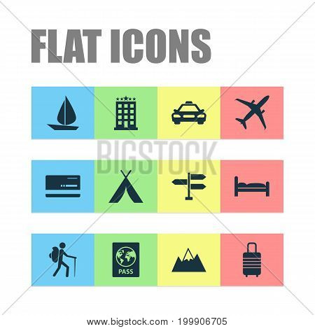 Exploration Icons Set. Collection Of Doss, Car, Direction And Other Elements