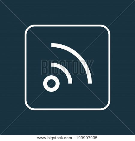 Premium Quality Isolated Feed Element In Trendy Style.  Wifi Outline Symbol.