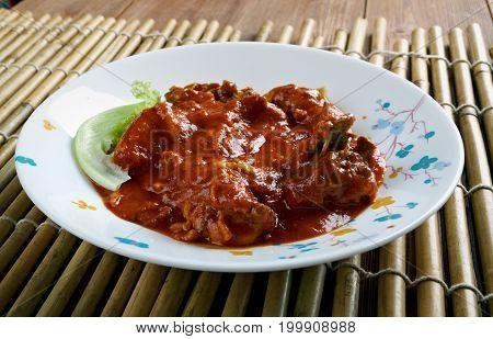 West Africa Spicy Chicken Peanut Soup