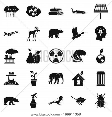 Resources icons set. Simple set of 25 resources vector icons for web isolated on white background