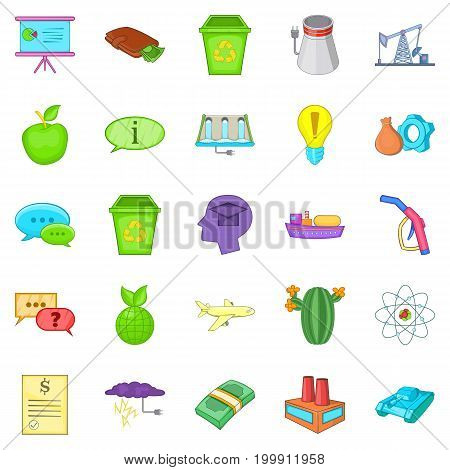 Recycling icons set. Cartoon set of 25 recycling vector icons for web isolated on white background